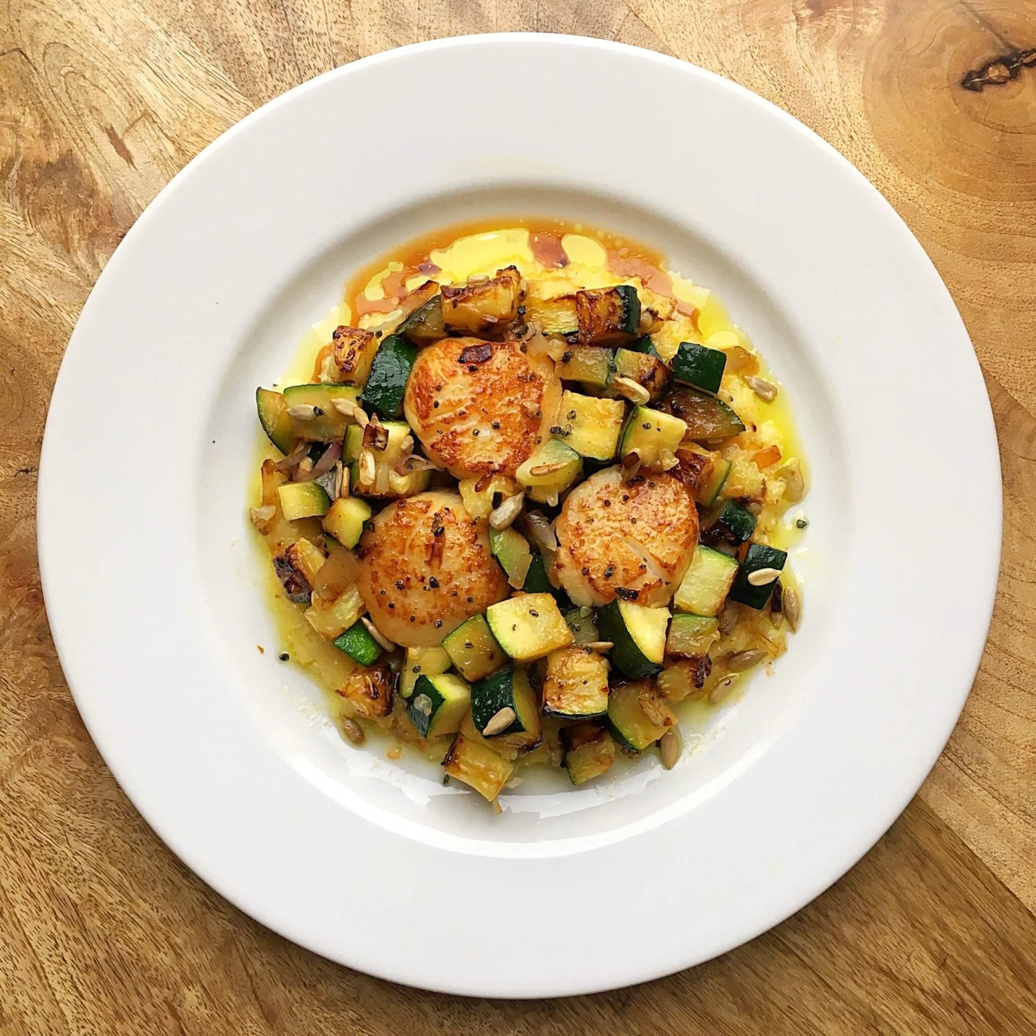 Scallop and Zucchini Feature
