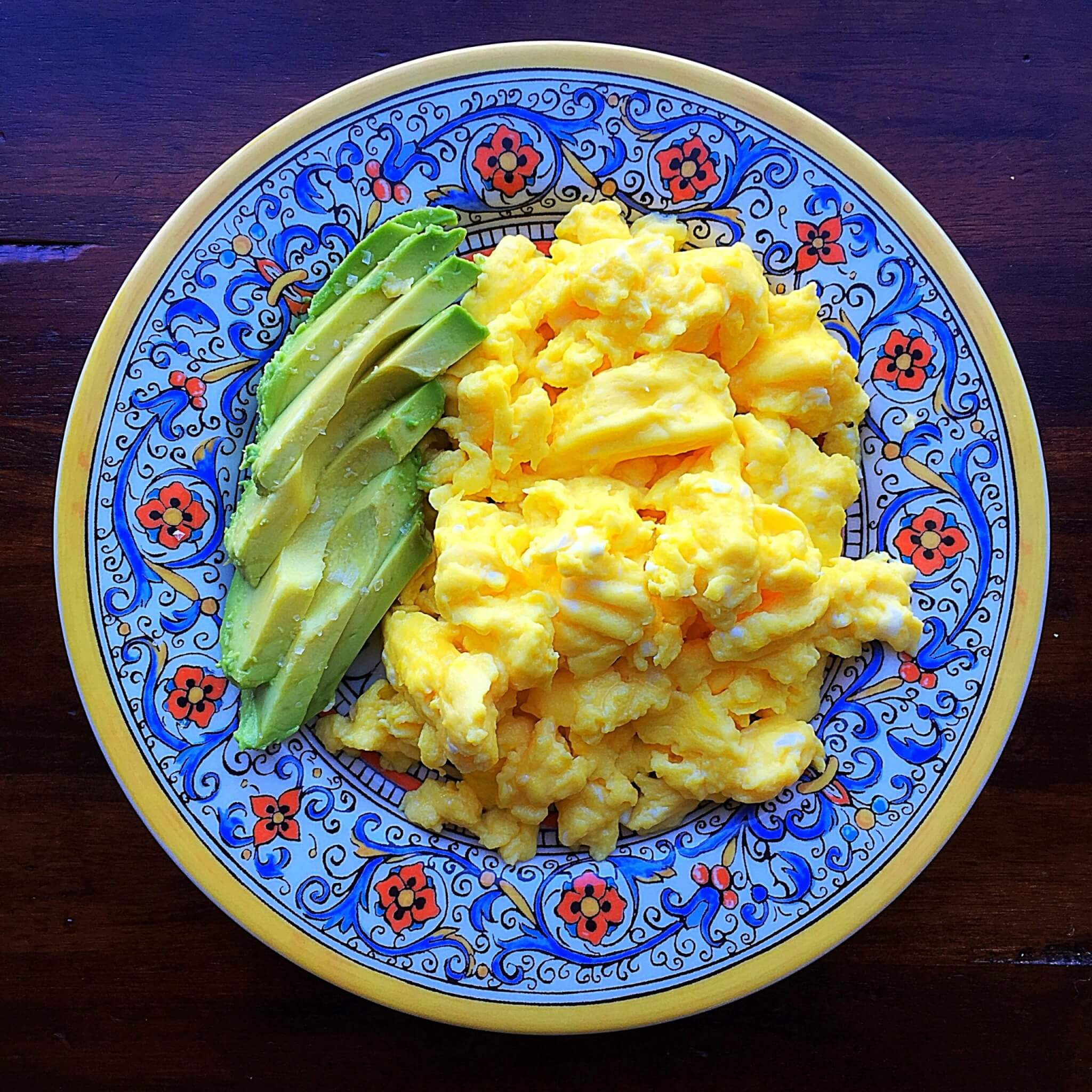 Creamy Eggs with Avocado