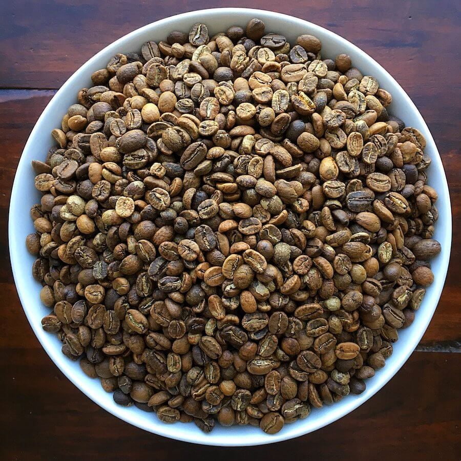 Bowl of Home Roasted Coffee Beans