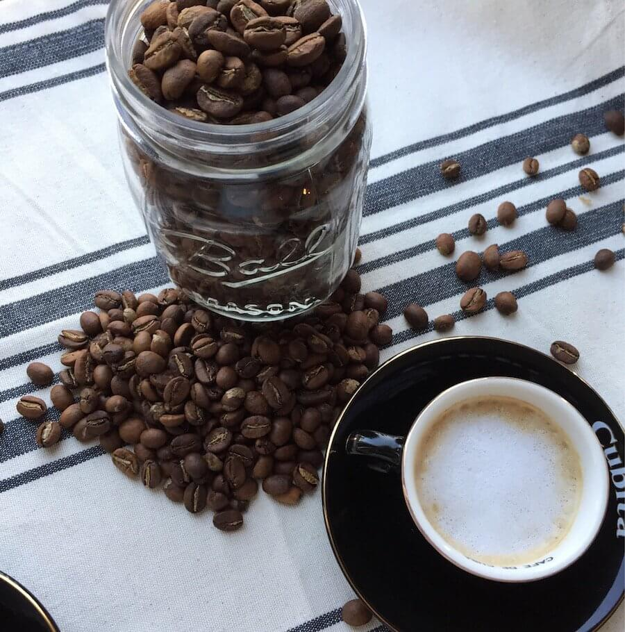 Coffee Beans with Espresso