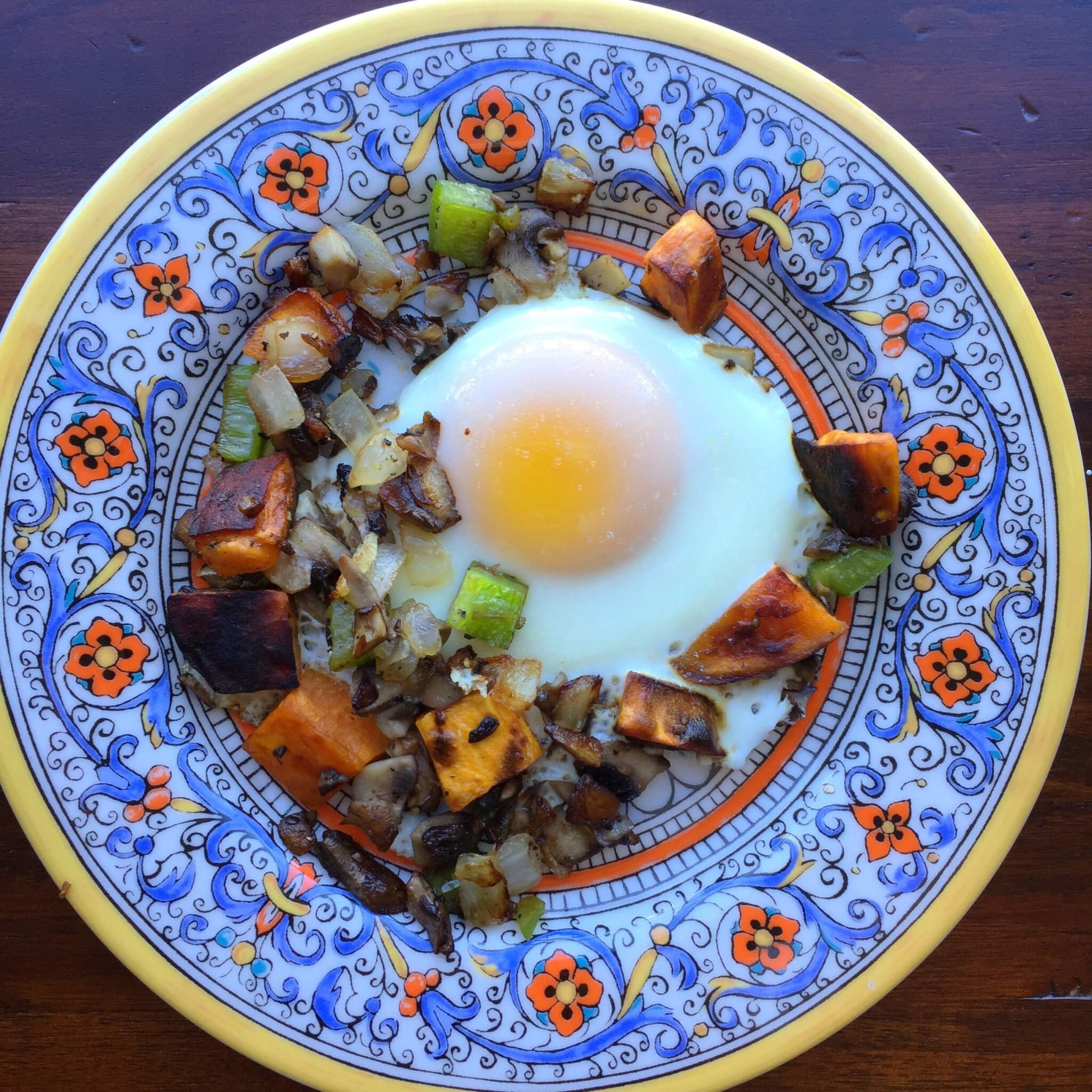 Sweet Potato hash for one