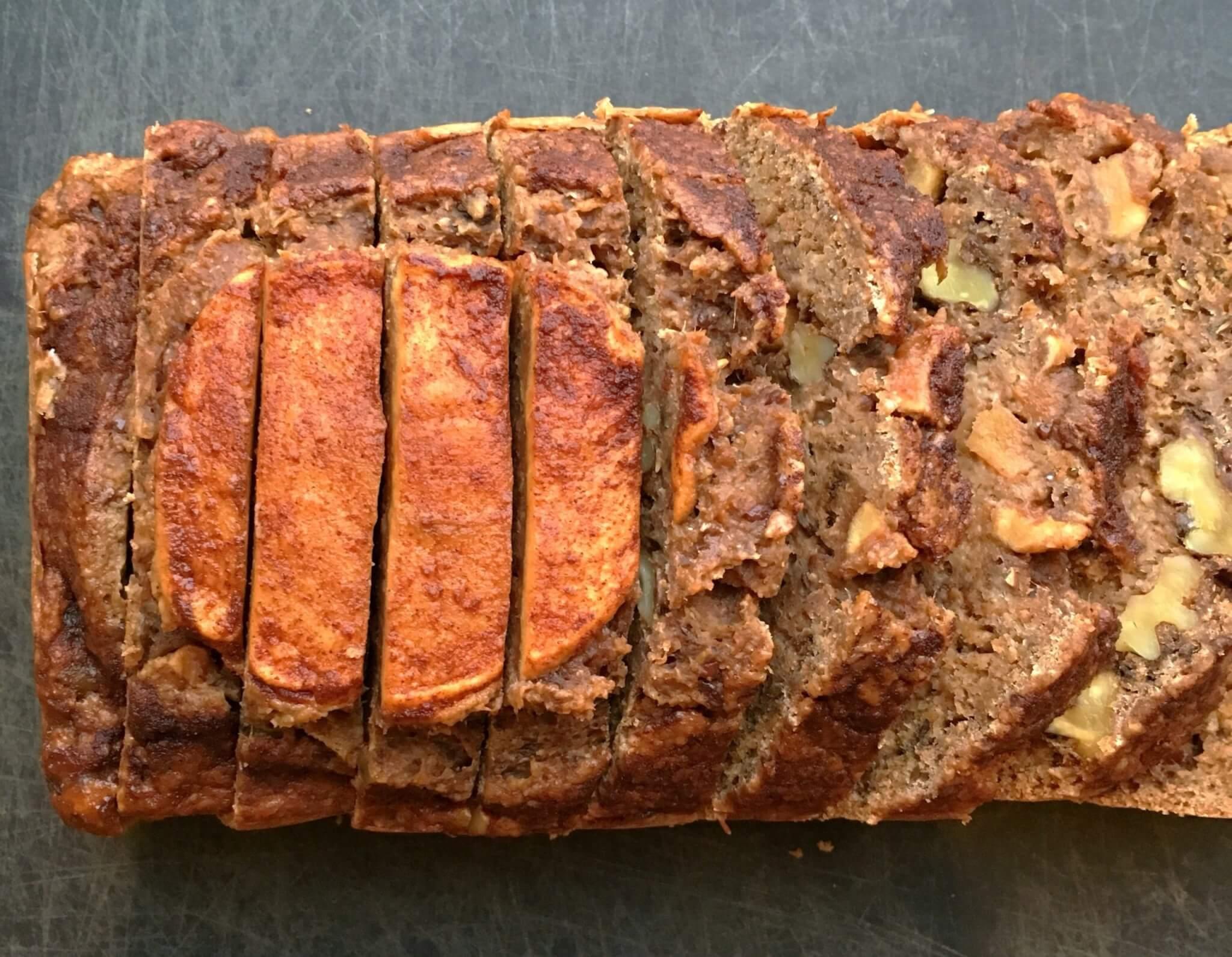 Apple Banana Bread Horizontal