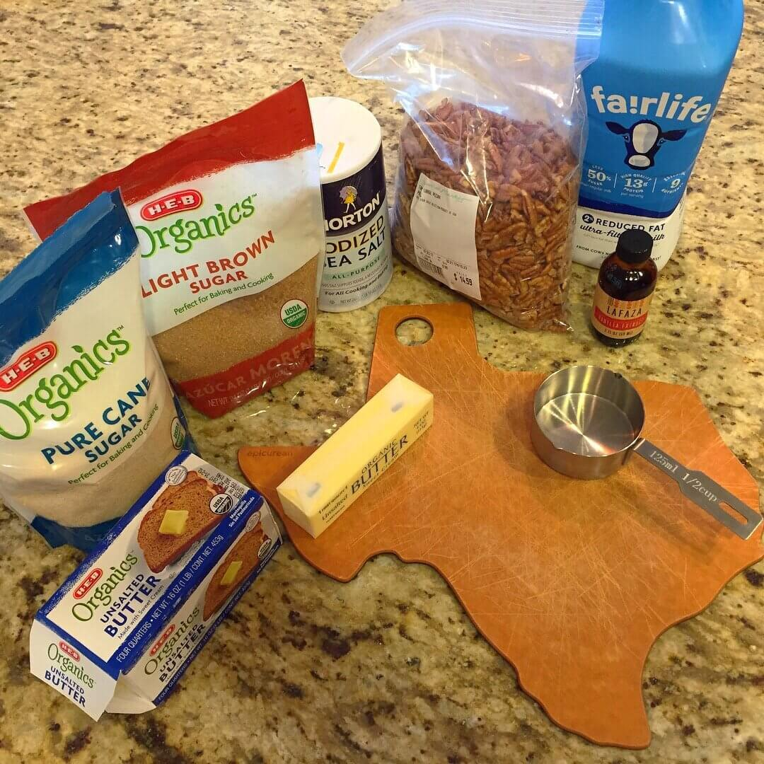 30 Minute Praline Ingredients