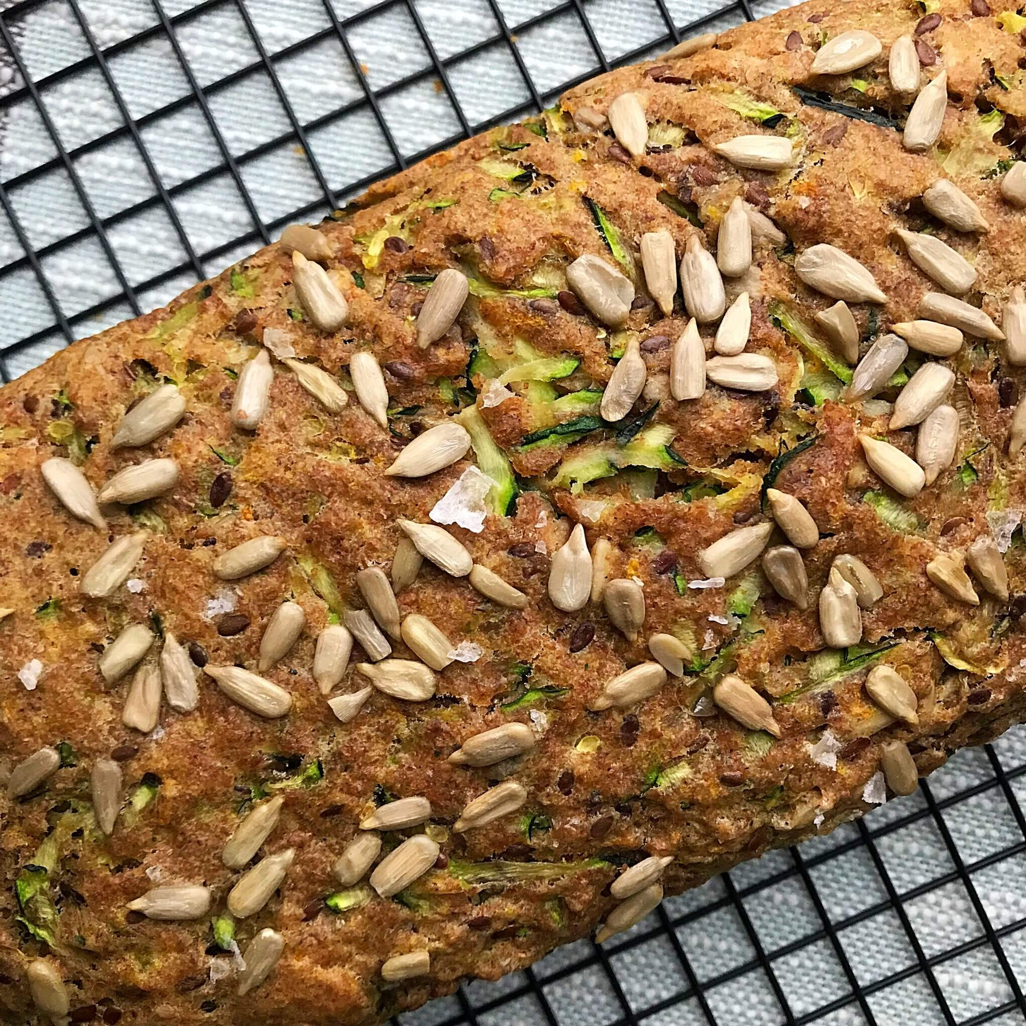Olive Oil Zucchini Bread Diagonal