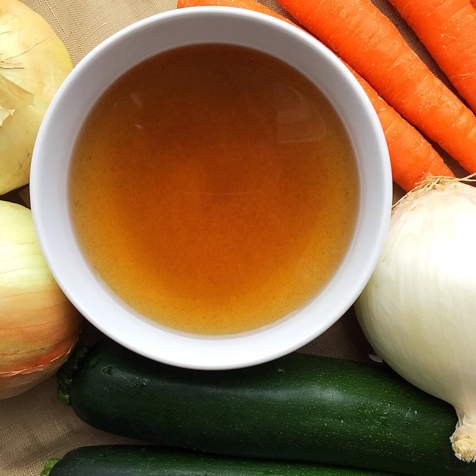 Vegetable Broth with Ingredients