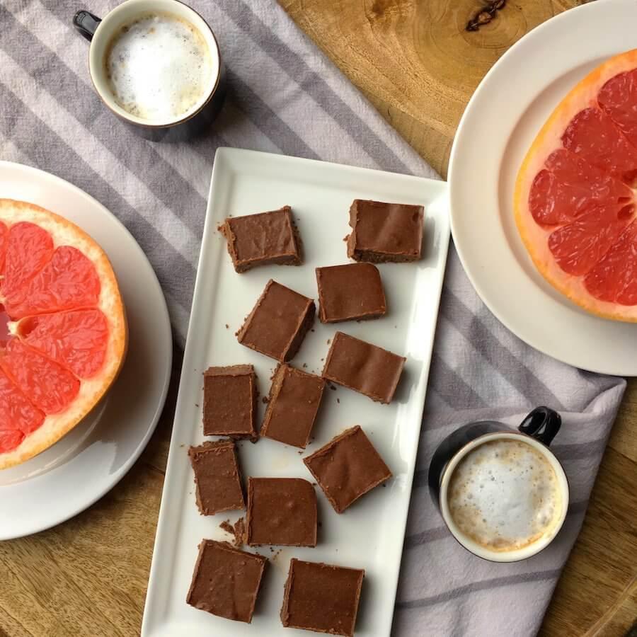 triple macchiato with grapefruit and fudge