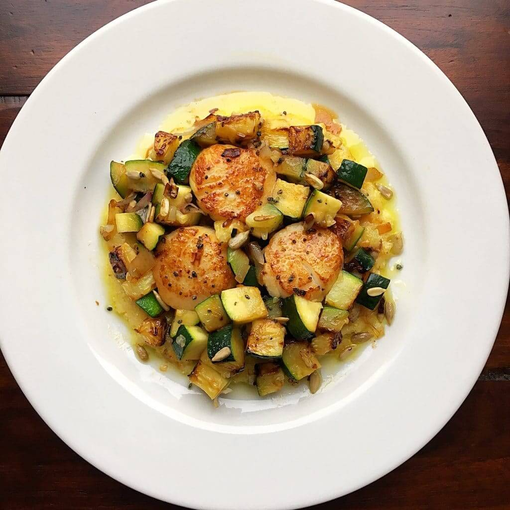 Scallops and zucchini recipe
